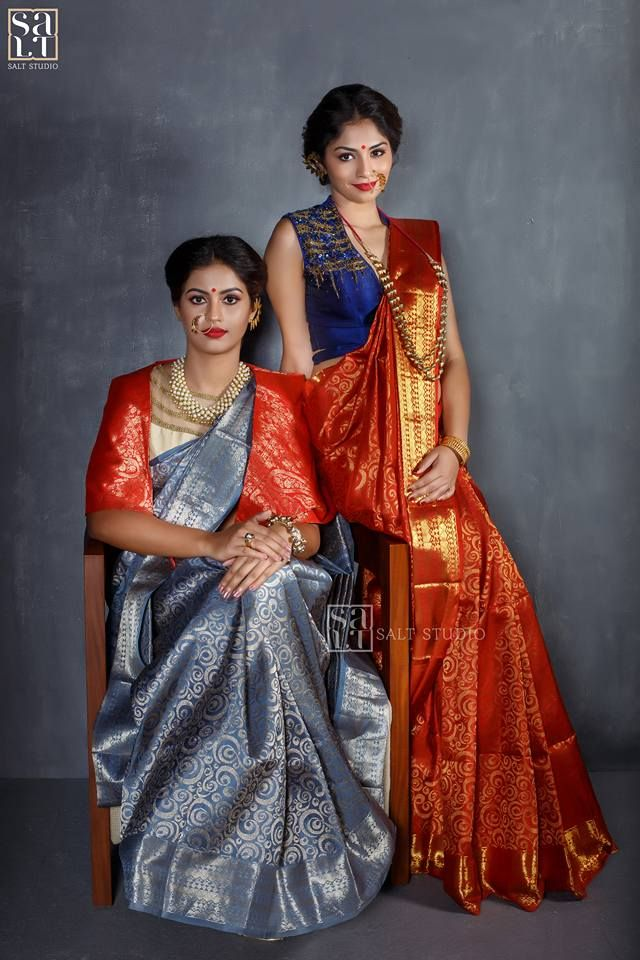 SaltStudio introduces it s spectacular range of  Kanjeevaram  sarees! Thanks Anvar Zayan  photographer  Make up and hair Sajith Tk    Sujith style lounge   Roshni Joshy  and Anita Mathew  our beautiful models . Special Thanks to Jerry John  and Dhanya for your help    support  bridalsarees  capeblouse  paistelkancheevaramsarees  contemperorysilksaree