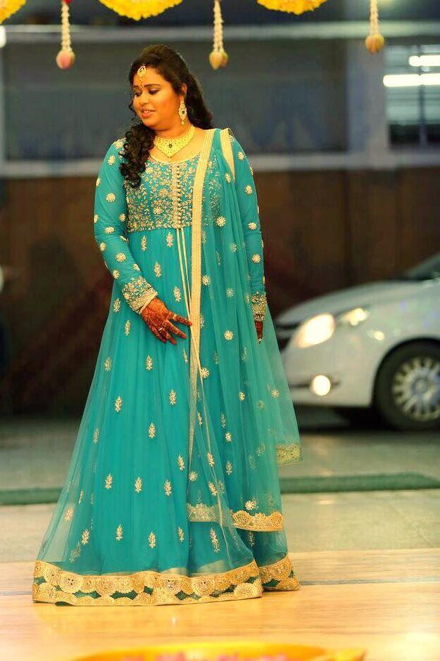 Glowing bride Karthika in a zardozi and pearl embellished customized Nazia Syed anarkali  bridalwear  naziasyed  couture  anarkaligown  zardozi  anarkali