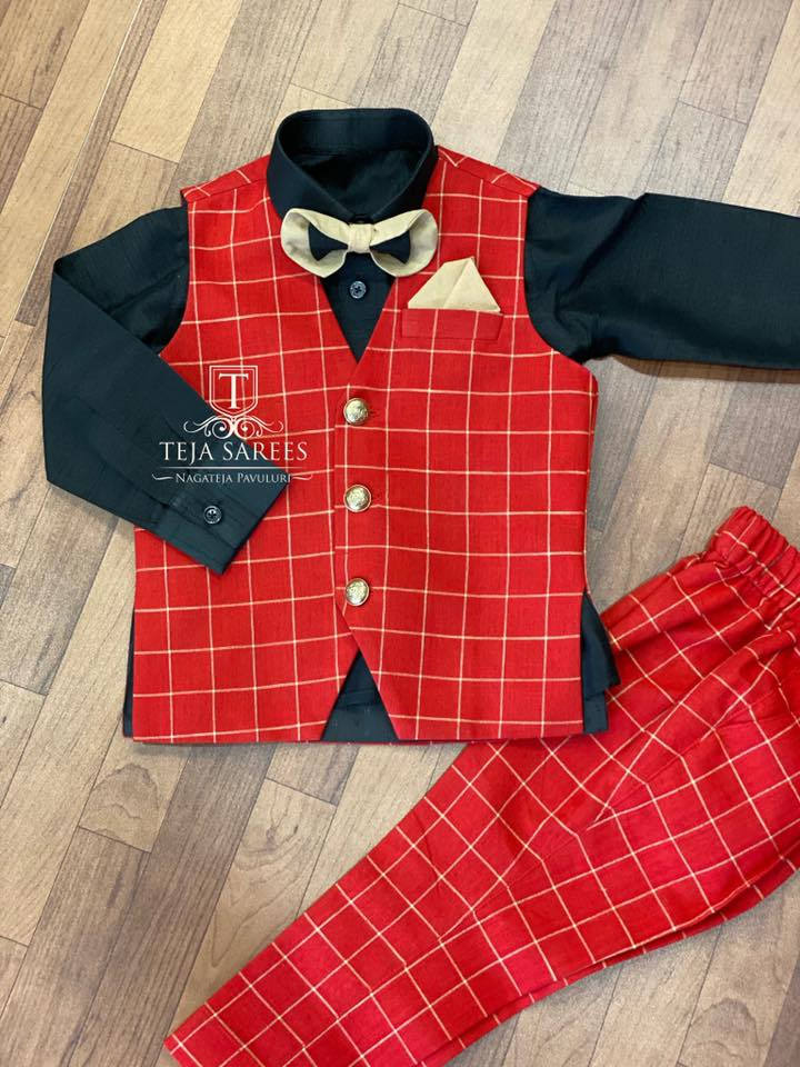 TS-MN-KDS-001 Available. Customised kids outfits from Team Teja. For orders/queries Call/WhatsApp 8341382382.