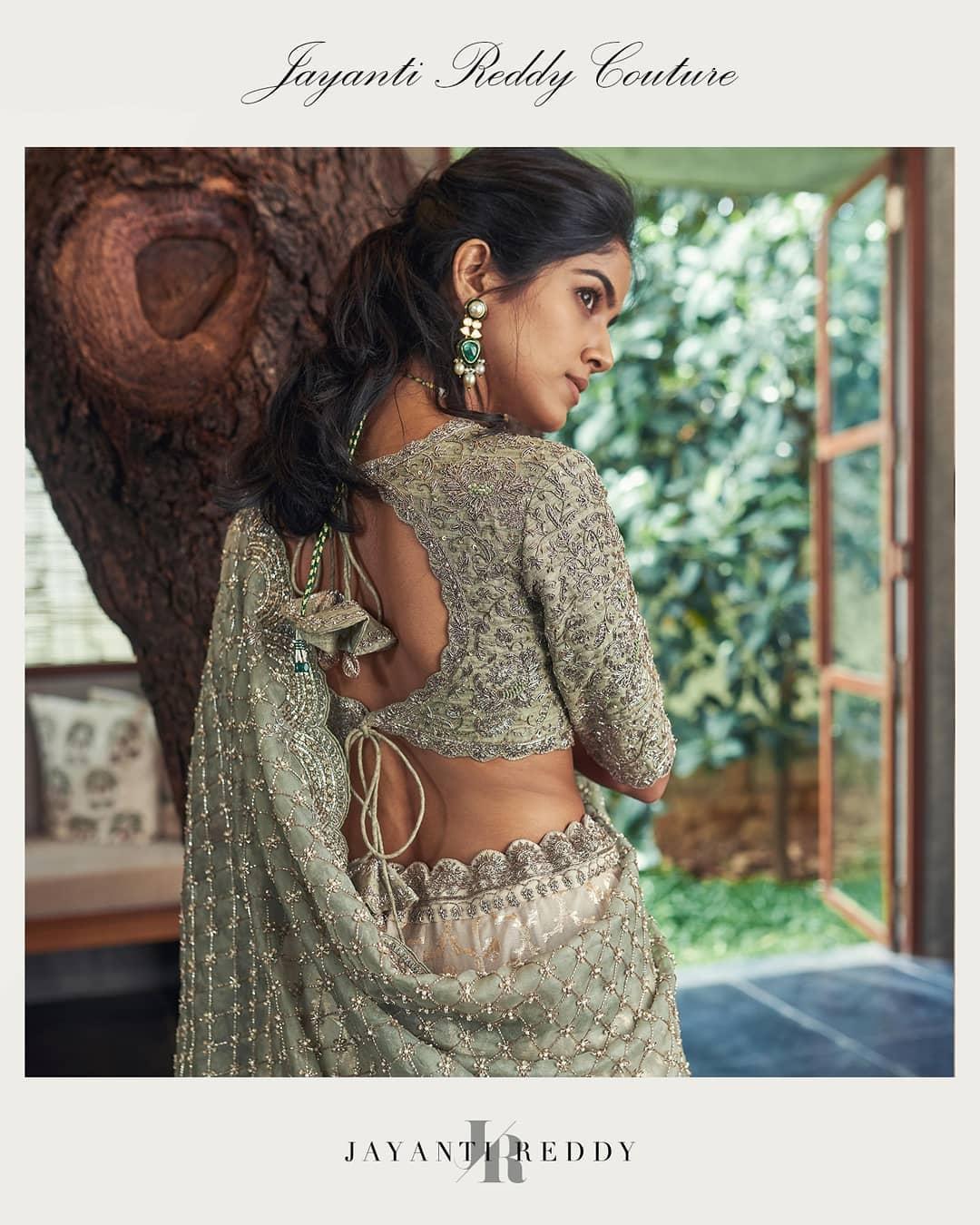 Jayanti Reddy Couture lehenga and blouse  WhatsApp  on +91 91214 32255 or DM  for more details.  Photographer : Akshay rao.  Model: Drishikachander. Jewellery: Krsala jewellery. 2020-09-05