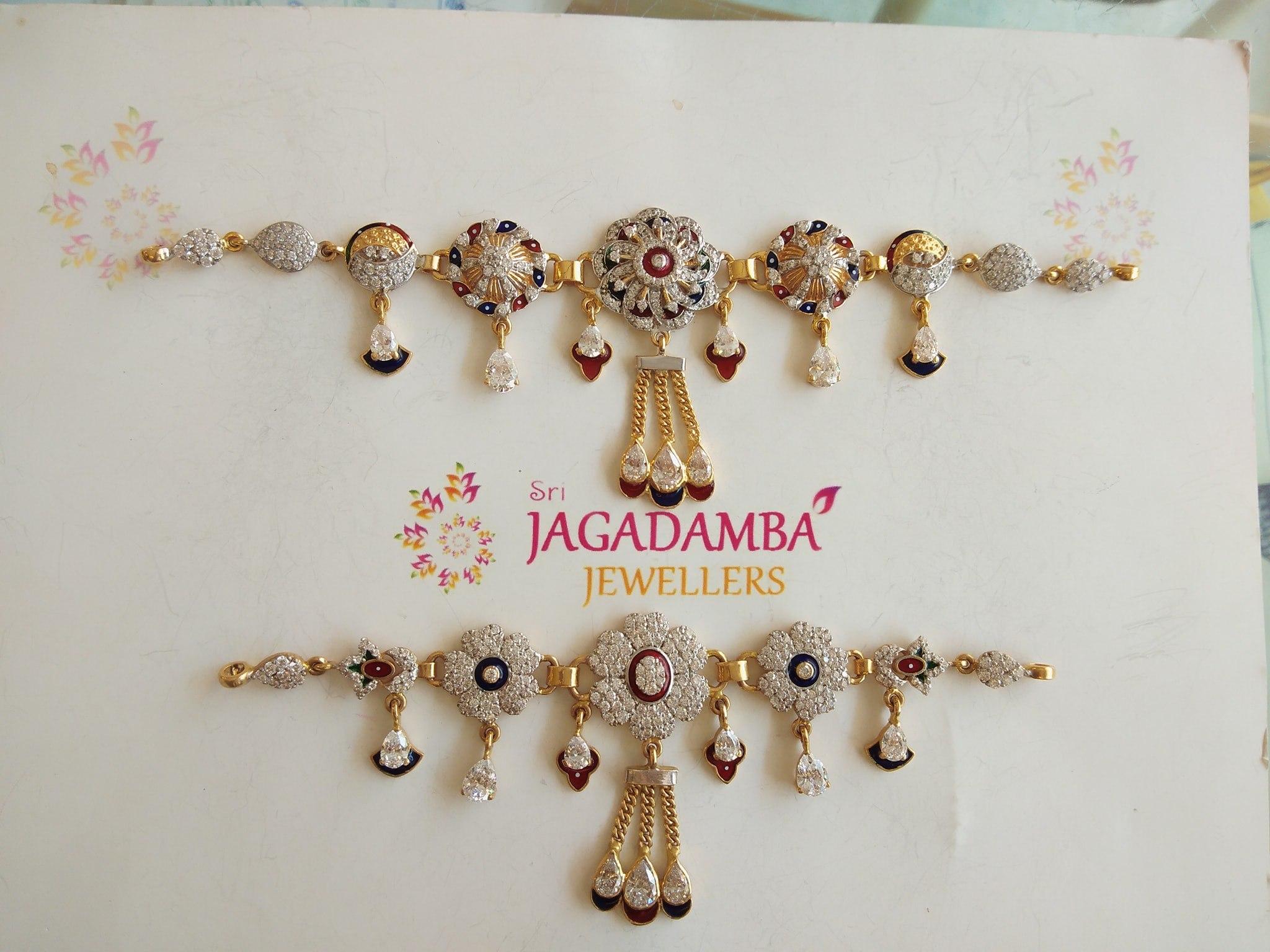 New Marwah Collection CZ with Jaipur Minakari work  Choker Cum Baju Bandh Wt 30gm 26gm 2020-09-17