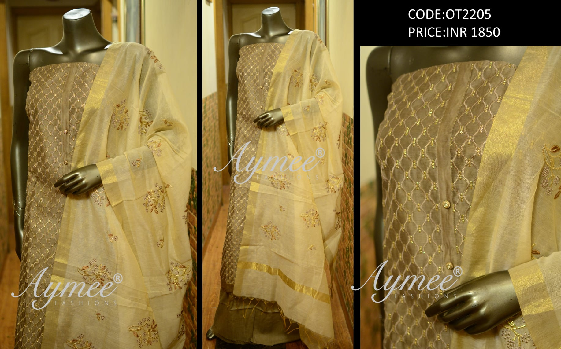 Fully stitched top and Dupatta (bust size upto 36) (CODE:OT2201)