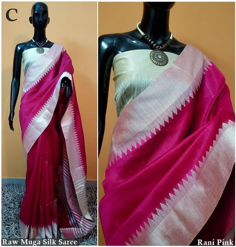 1250/- Raw Silk Saree With Khadi Weaving Pallu With Tassels n Khadi Temple Weaving Border With Blouse As in Image WhatsApp for order 9949519207 |  |  |  | 2020-11-03