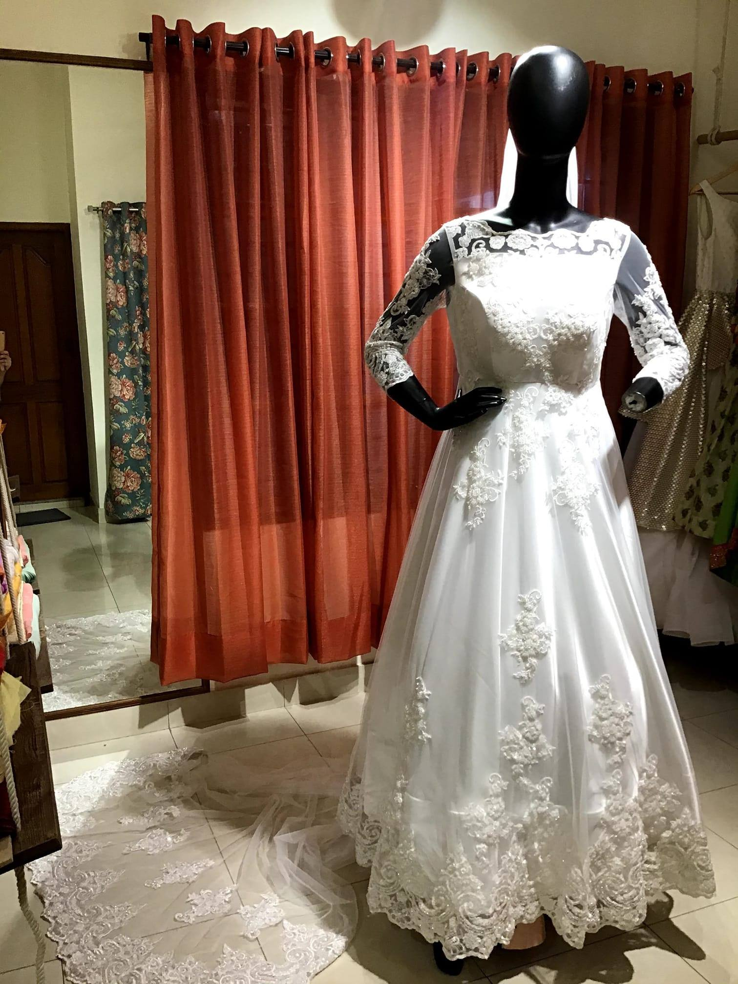 Stunning pearl white color Wedding dress Luxury and Elegance Designed by Lavender  The Boutique For details- Contact : +91- 9886765047 Email   :  lavendermailbox@gmail.com.   indo western dress 2020   indo western gown for female   indo western dress for womens with price   2020-11-05