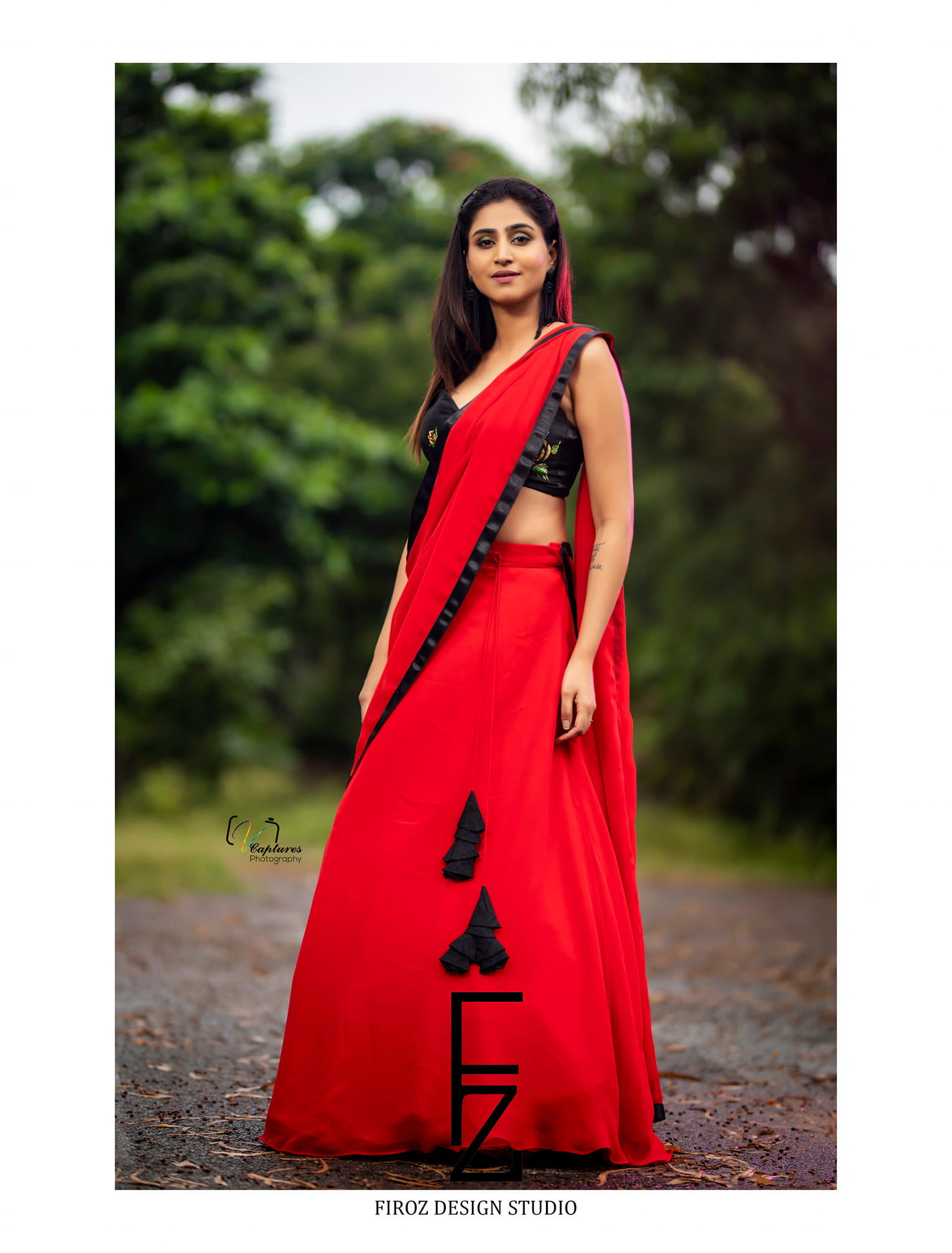 Glamorous Goddess Varshini looked beautiful in Firoz Design Studio  Firoz Design Studio outfit.  | shaadi lehenga | pattu lehenga | lacha blouse | 2020-11-08