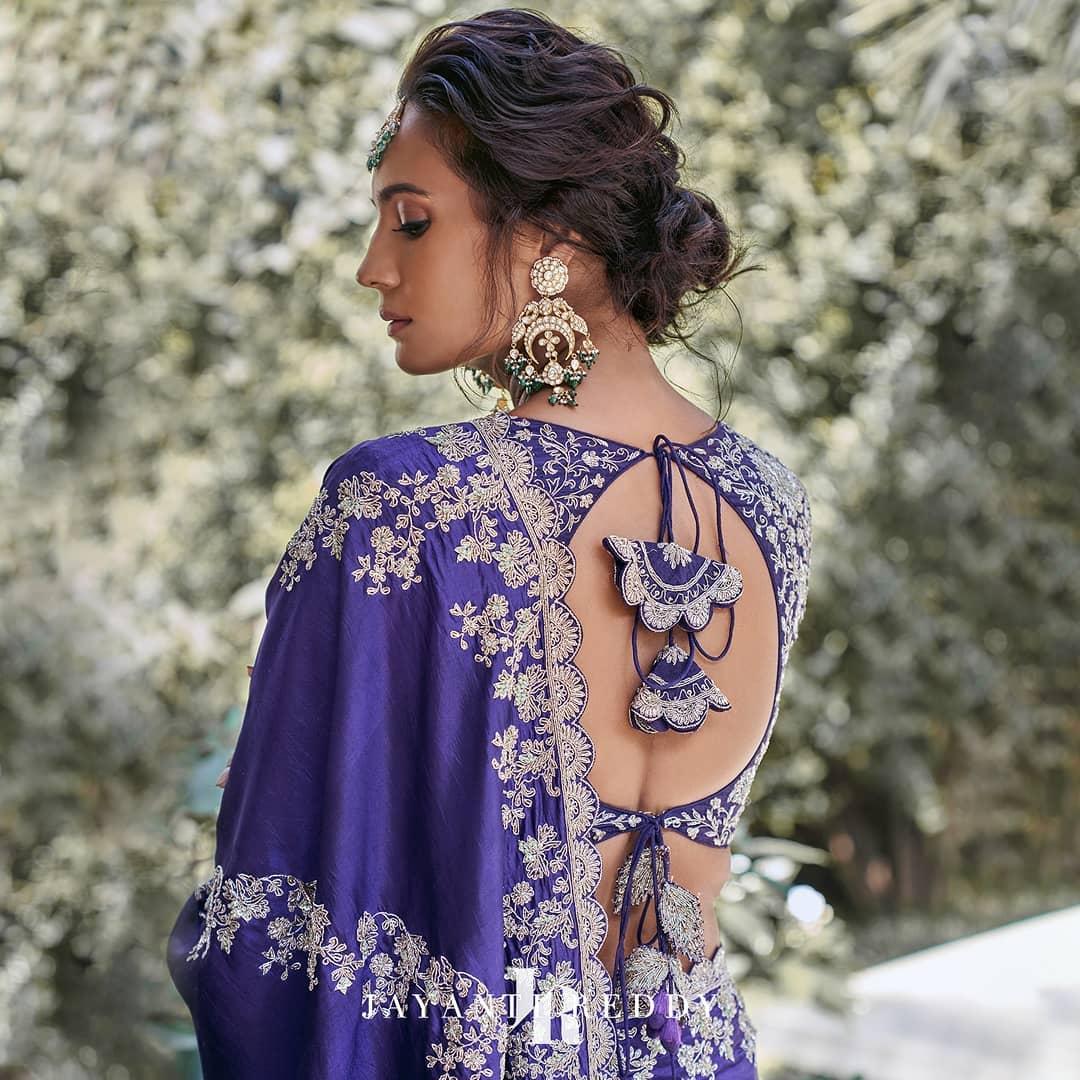 Jayanti Reddy signature style blouse with classy hand embroidery work.  Whatsapp on +91 7330687770 / 9121432255. | trending blouse designs | pattu saree blouse designs catalogue | blouse katne ki design | 2020-11-13
