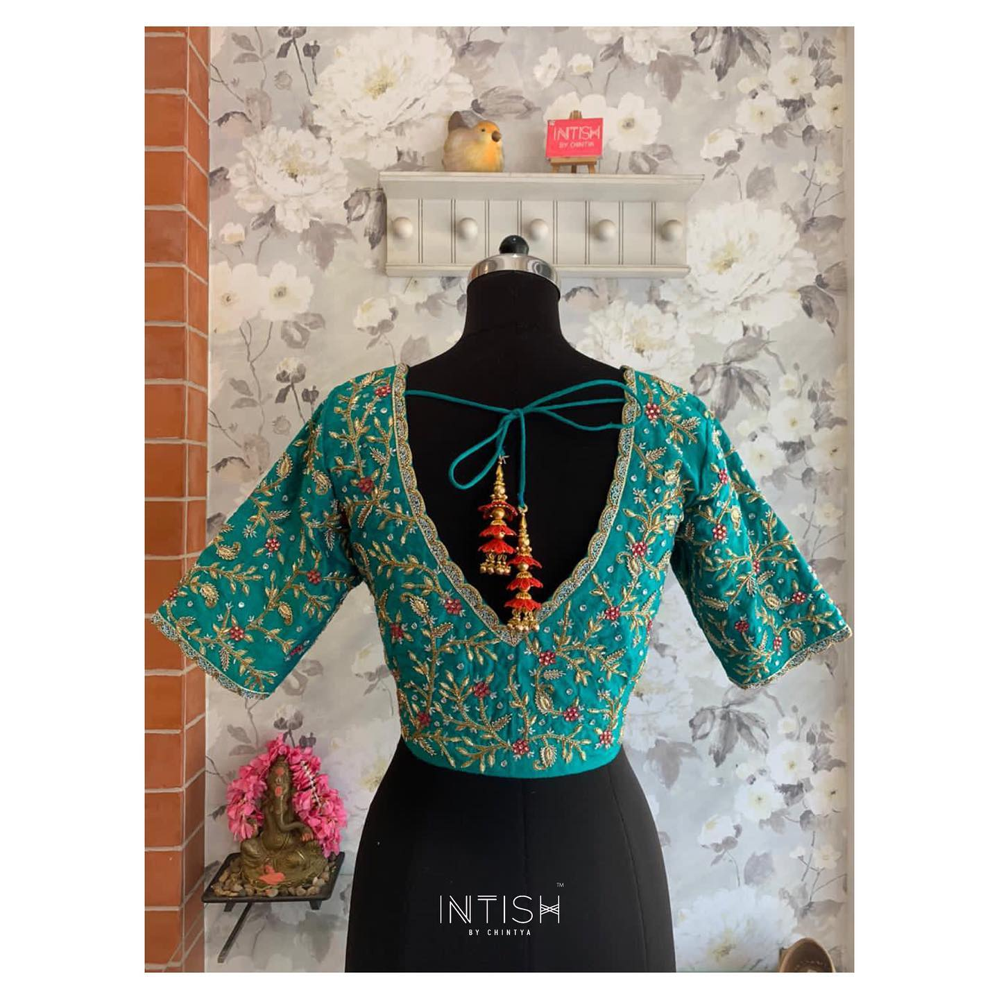 No more blues!  Raw silk blouse with the most delicate detailing of zardosi  thread embroidery pearls and sequin.   lace skirt and blouse styles   blouse sleeves design   saree blouse online   2020-11-19