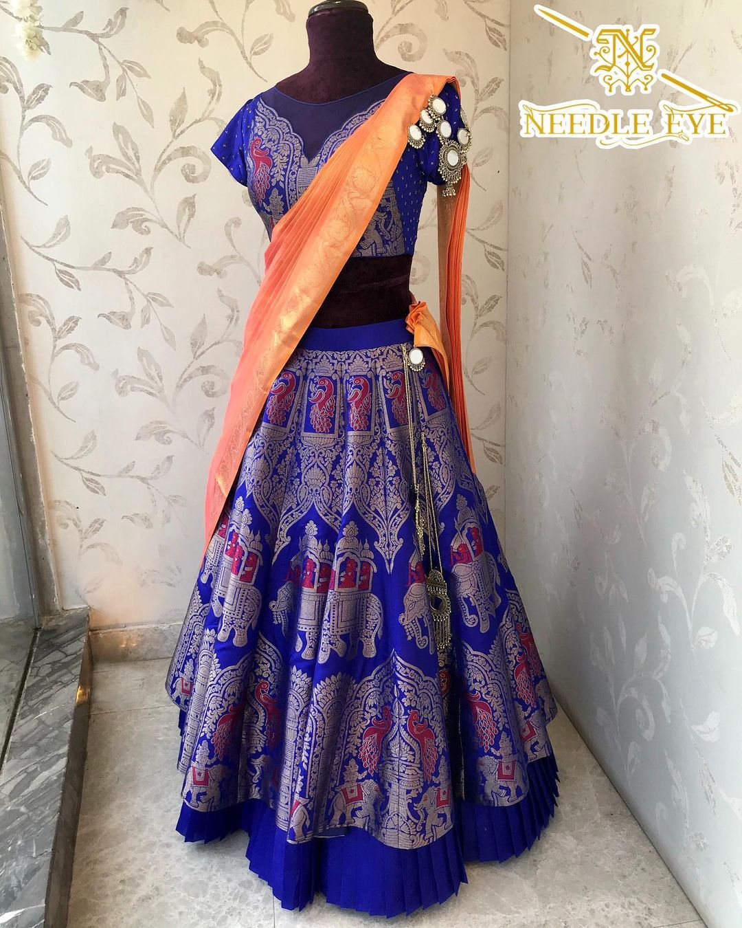 Elegant silk lehenga from Needle Eye boutique. | buy lehenga online | bridal lehenga blouse design | lavender lehenga | 2020-11-24