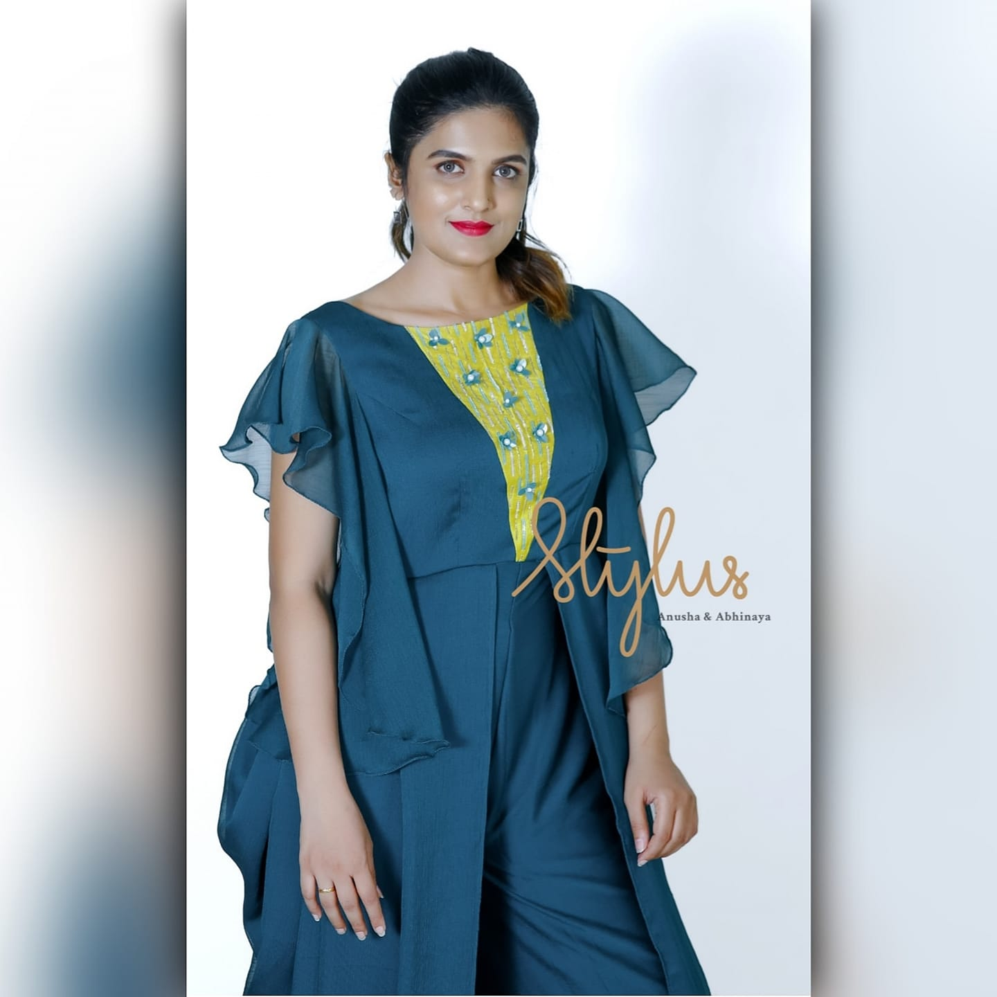 Beautify with simplicity. Green dhoti style jumpsuit with contrast detailing Make sure you are an updating retrograde in theme parties.   indo western dress for female with price   cotton indo western kurti   indo western plus size   2020-12-03