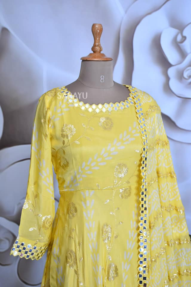 Pastel Colors georgette -lemon Yellow