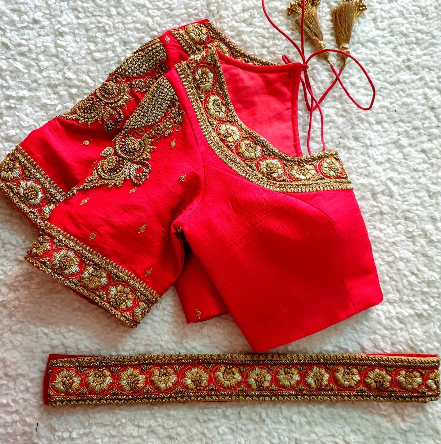 Red is the most powerful of all colors in Indian culture and holds many important meanings. Among them are fear and fire  wealth and power purity  fertility seduction love and beauty. Red is also representative of a certain time and place in one's personal life."