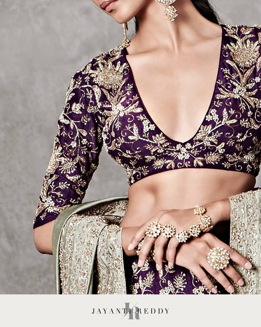 very aesthetic detail of the Jayanti Reddy blouse infuses old-world intricacy with contemporary glamour. The cuts may be sharp and sleek but they're softened with the poetry and romance of traditional colours and historical embroidery styles.  Whatsapp or DM us for more details. Hyderabad +91 9121432255 (Neelu) Delhi +91 83739 92273 (Shalini) . . | blouses online | blouses online | blouse ke designs | 2020-12-05