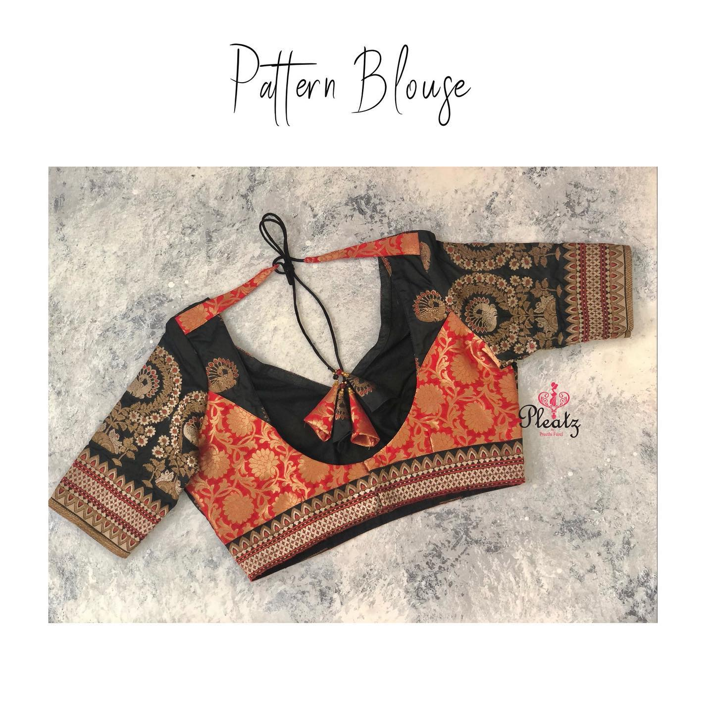 Elegant pattern blouses customised at Pleatz. Classy designs to attend wedding parties and for other Occasions.  | kids blouse designs | latest lehenga blouse design | net blouse | 2020-12-08