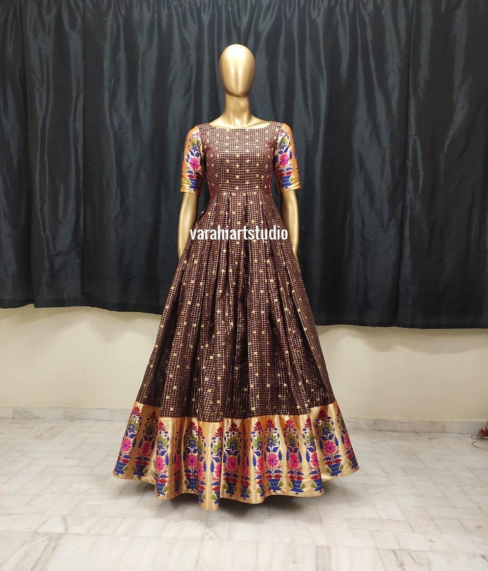 This Outfit is Available at Rs 6600 from Varahi art studio .. They can customise the size as per your Measurements .. .. They have international shipping service too