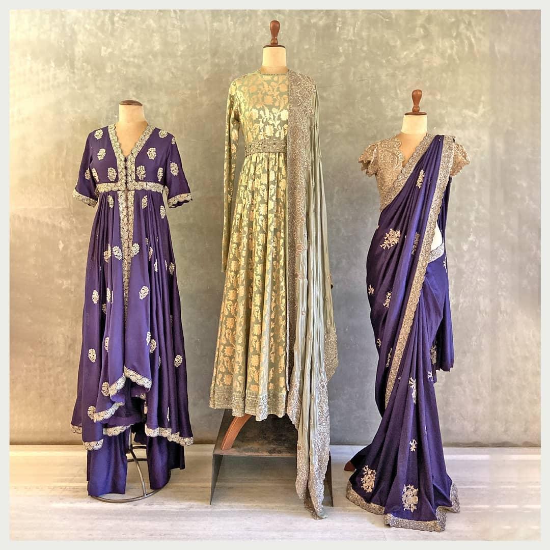 Handwoven textiles embellished with intricate hand embroidery!  Whatsapp  for more details. Hyderabad +91 9121432255 (Neelu) Delhi +91 83739 92273 (Shalini) | jimikki kammal saree | mirror work blouse design | naye design ki saree | 2020-12-18