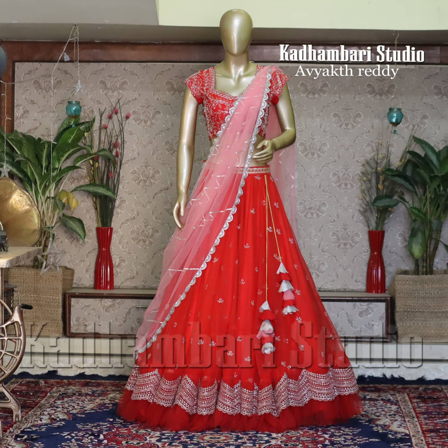 NOTHING attracts attention like a red lehenga...