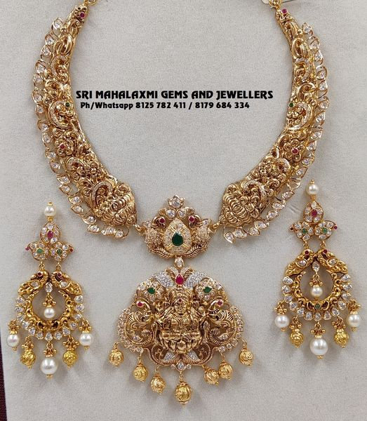 Necklaces new designs perfect finish most competitive prices. VIDEO CALL  ON 8125 782 411 OR 8179 684 334 Presenting kanthi necklace with Chandbali ear rings. 2020-12-29