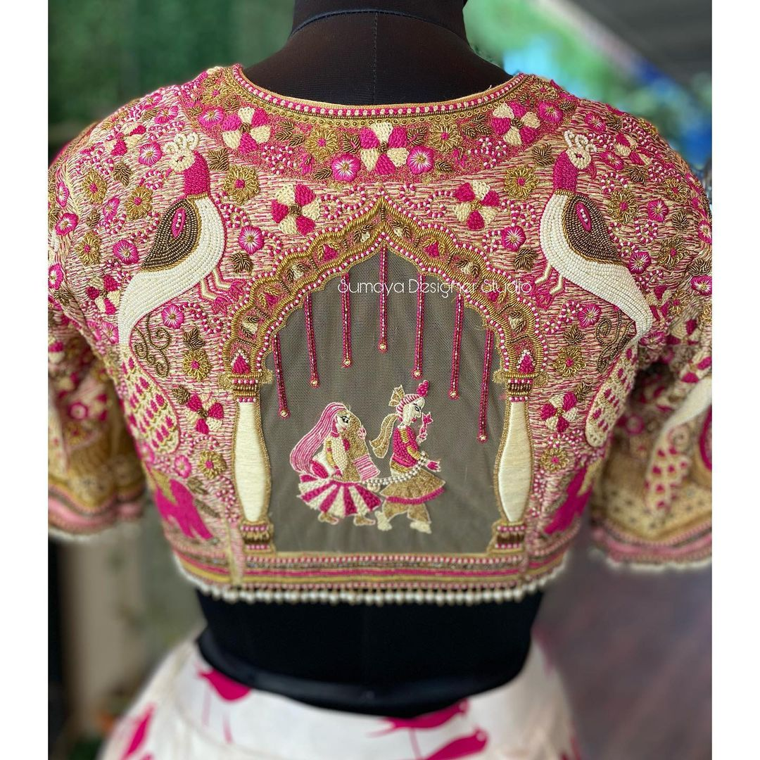 Bespoke Bridal blouses......!  from sumaya designer studio . . Call  for more details