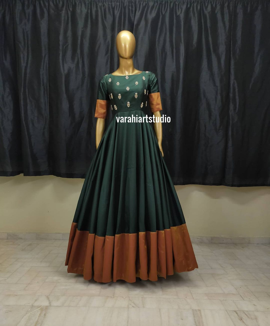 This Outfit is Available Rs5200 from Varahi art studio .. They can customise the size as per your Measurements .. .. They have international shipping service too