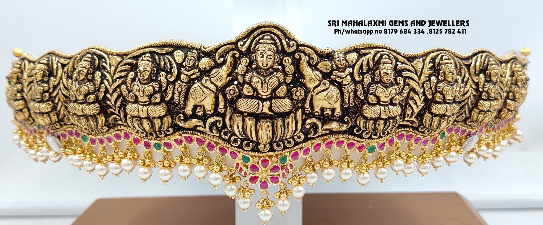 Ashtalaxmi Vaddanam made in Deep Naxi and Kundan work!