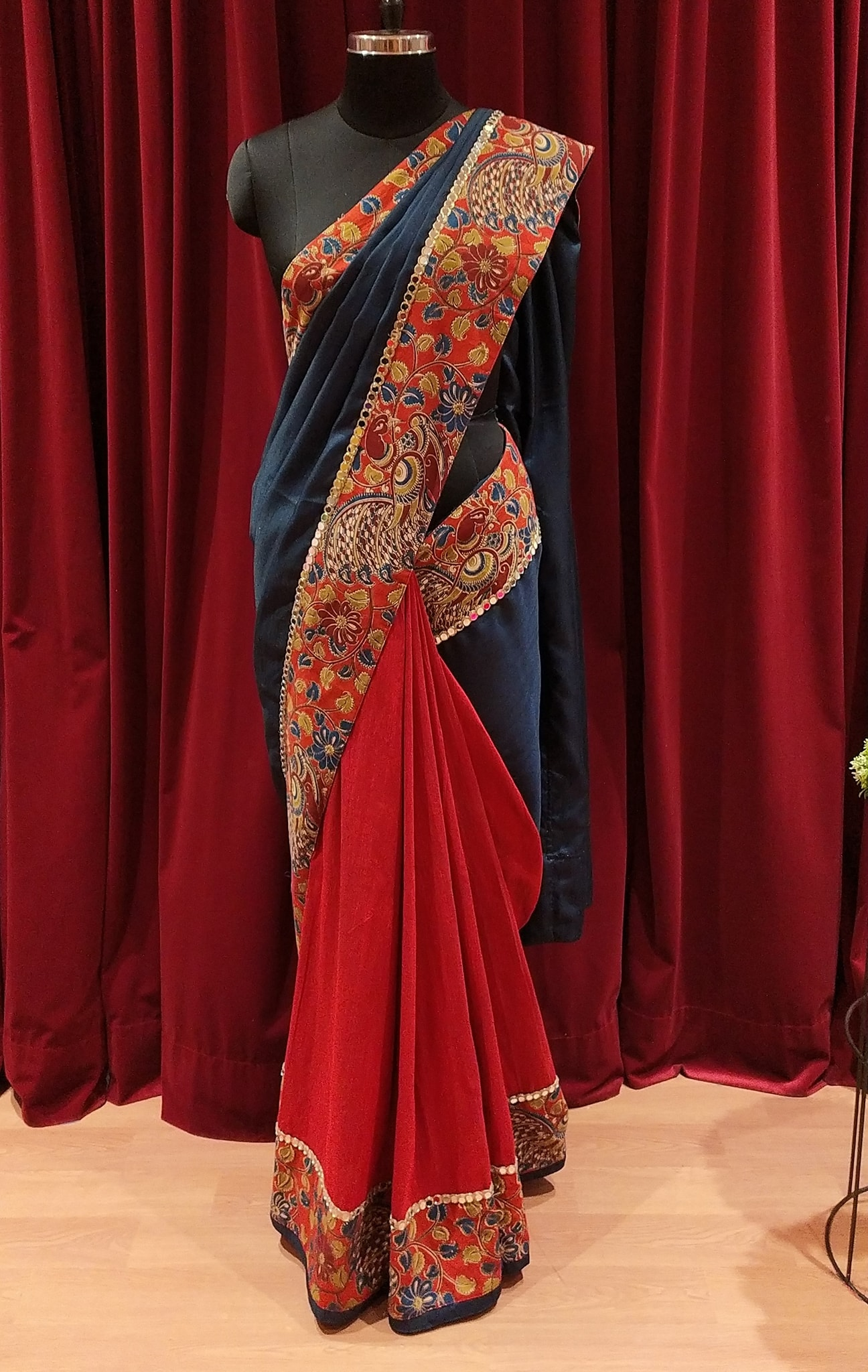 Half & Half Saree.