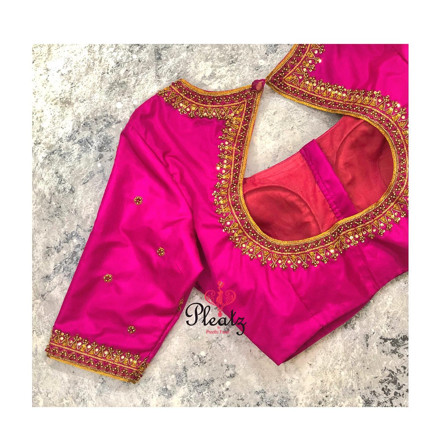 Beautifully designed and handcrafted blouses with intricate embroidery details will definitely steal everyone's heart. Artistically curated bridal blouses can add an additional charm to the whole bridal look on your Wedding day 2021-01-05