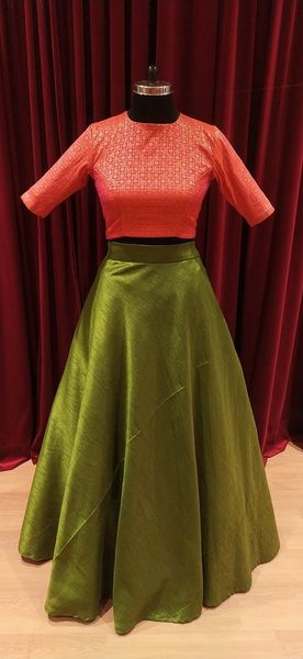 Skirt and Croptop Set.