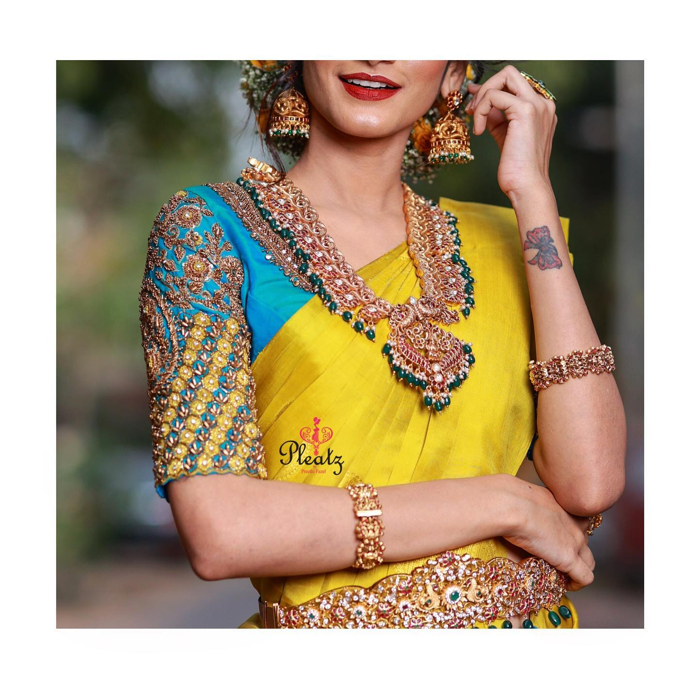 Beautifully designed and handcrafted bridal blouse with intricate embroidery details will definitely steal everyone's heart. Artistically curated bridal blouses can add an additional charm to the whole bridal look on your Wedding day . 2021-01-06