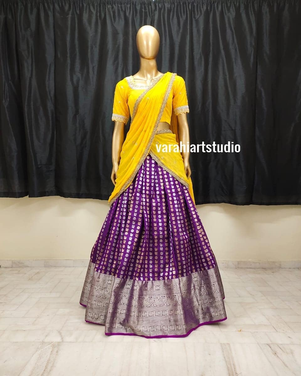 his Outfit is Available at   Rs 11600 from Varahiartstudio ..They can customise the size as per your Measurements .. .. They have international shipping service too