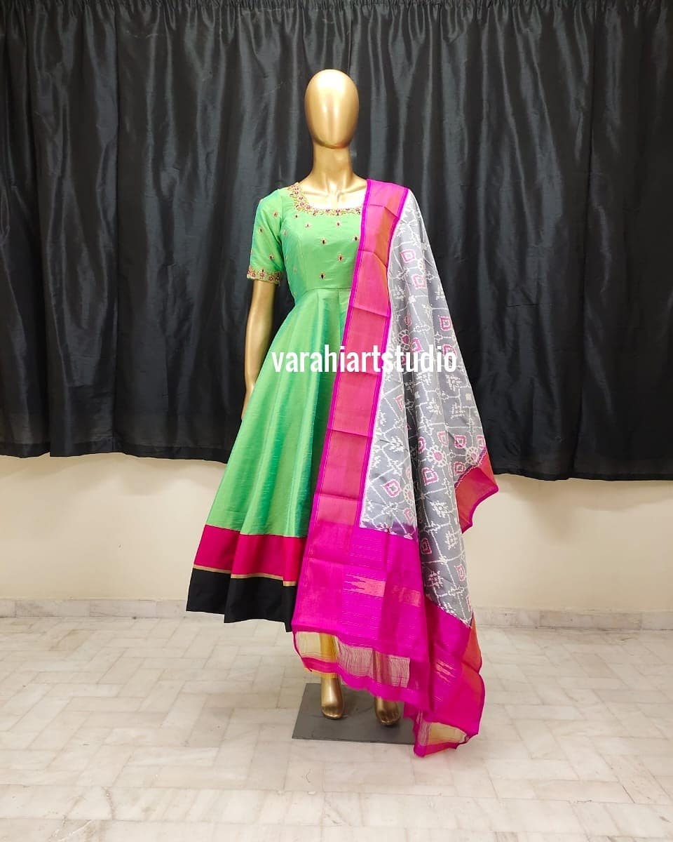 This Outfit is Available at Rs 9800 from Varahi art studio .. They can customise the size as per your Measurements .. .. They have international shipping service too