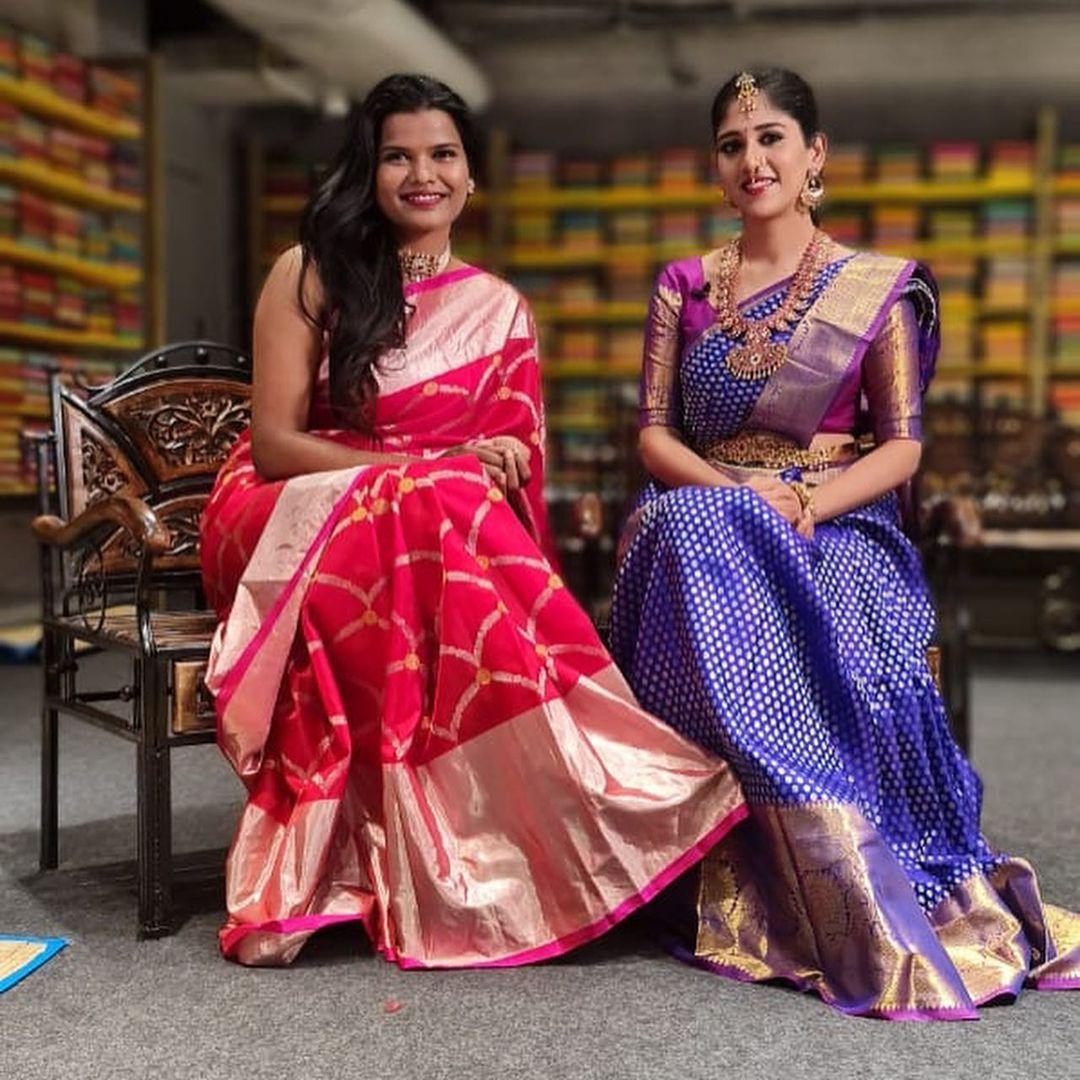Beautiful Colourfoto Designer Sashi Vangapalli with chandini chowdary .. superfun girl ! 2021-01-11