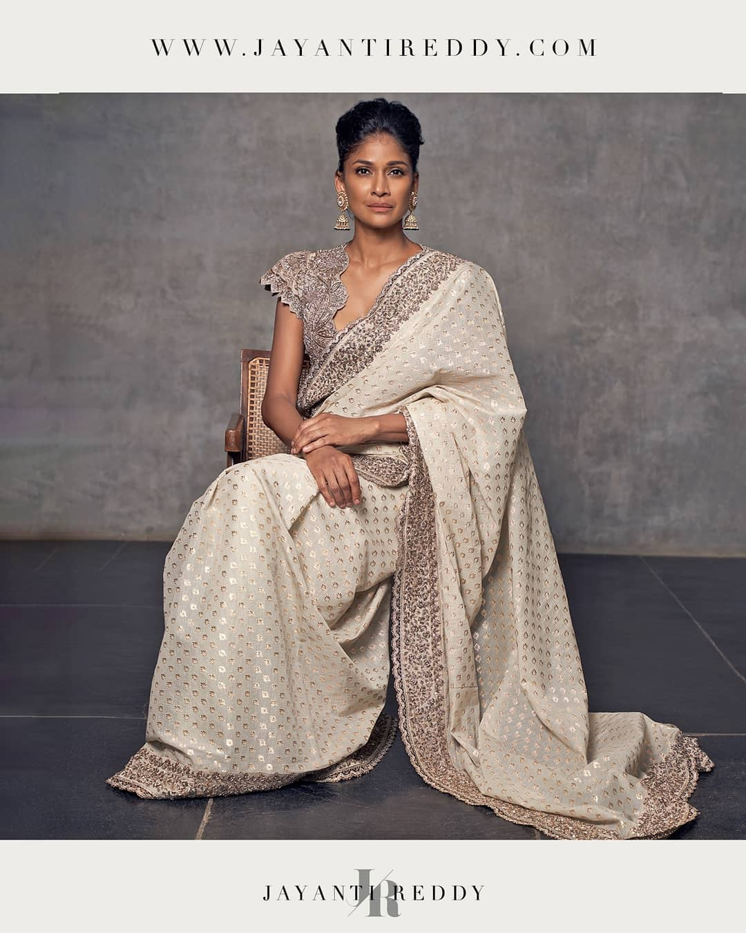 Exemplifying traditional clothing with a unique sense of style and regal design from Jayanti Reddy.. 2021-01-12