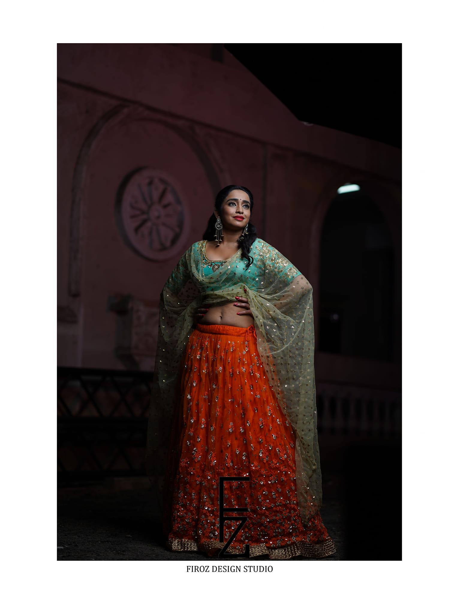 Beautiful and Charming Vindhya Vishaka in Firoz Design Studio Outfit. 2021-01-12