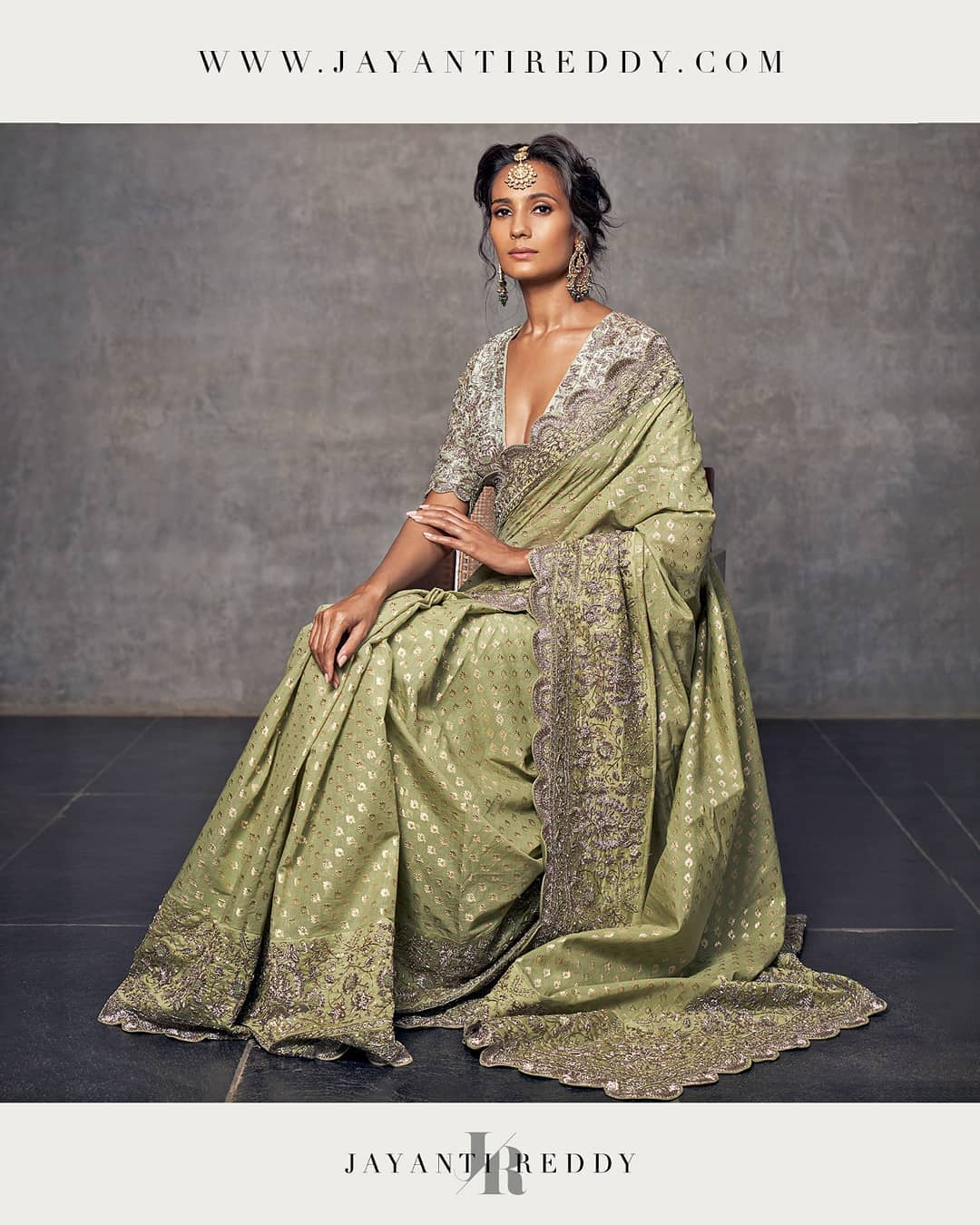 The Jayanti Reddy label epitomizes an elegant and relatively understated sense of style with a strong emphasis on naturally dyed handwoven textiles that are embellished with intricate hand embroidery.  2021-01-13