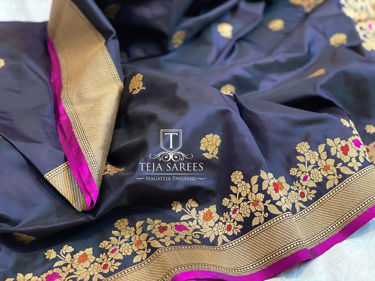 TS-SR-526 Available Hand picked banarasi kathan Silk Saree with intricate Kaduwa weaving from Team Teja !! For orders/queries Call/ what's app  on 8341382382 Mail  tejasarees@yahoo.com 2021-01-16