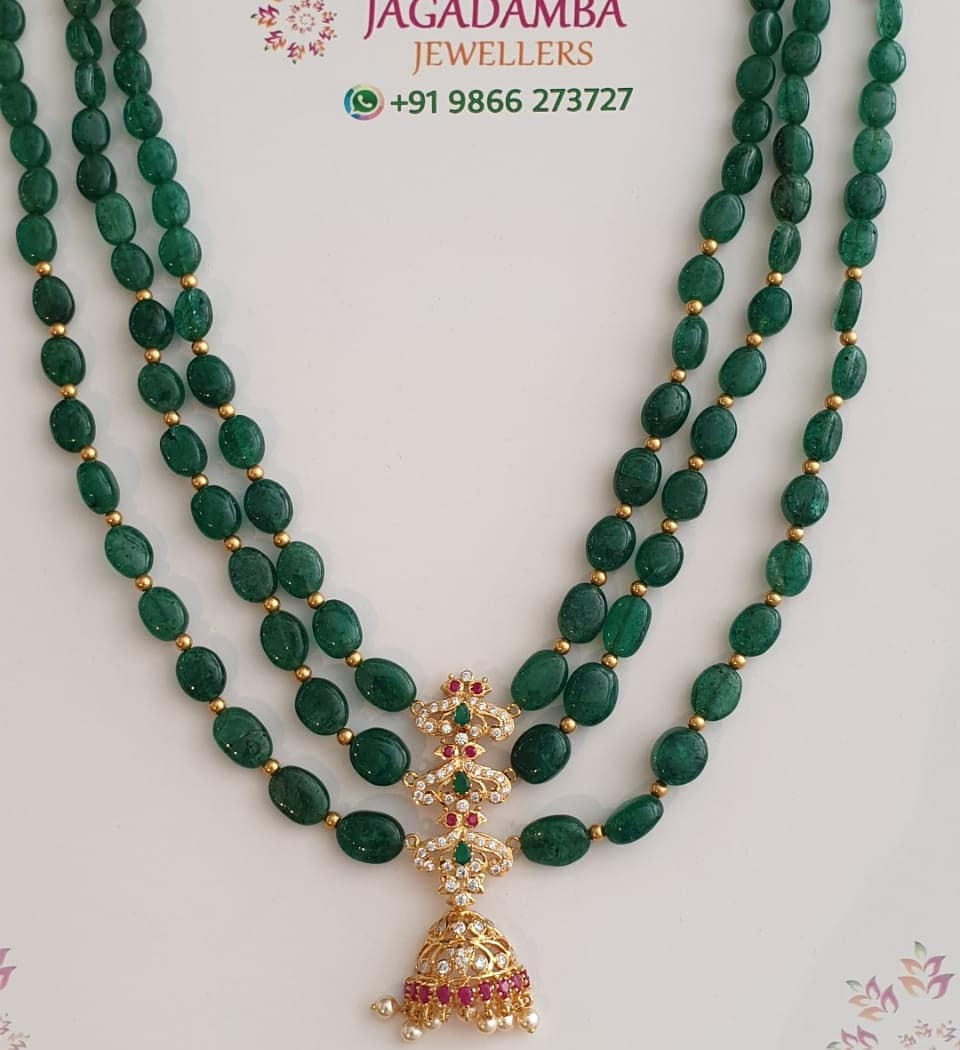 Beads step necklace
