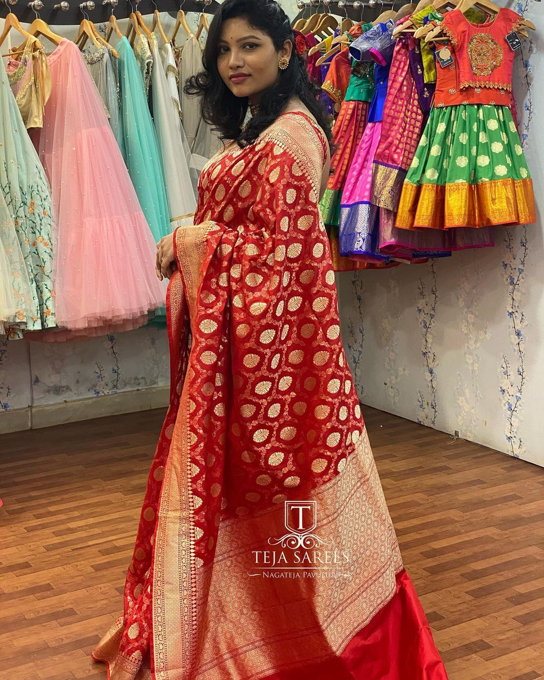 Hand picked banarasi kathan Silk Saree from Team Teja !! For orders/queries Call/ what's app  on 8341382382 Mail  tejasarees@yahoo.com 2021-01-28