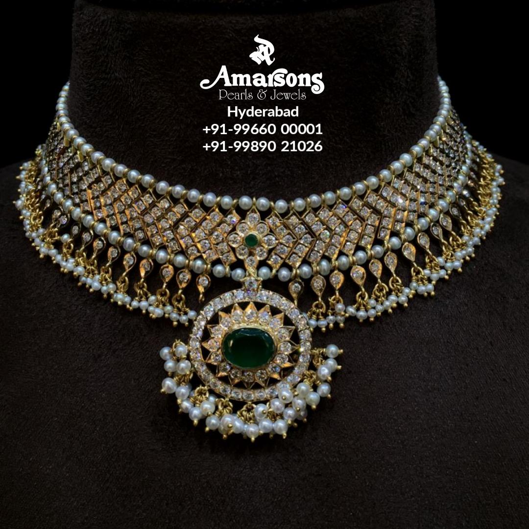 Gold Diamond Thusi Neckalce from Amarsons jewellery. 2021-01-29