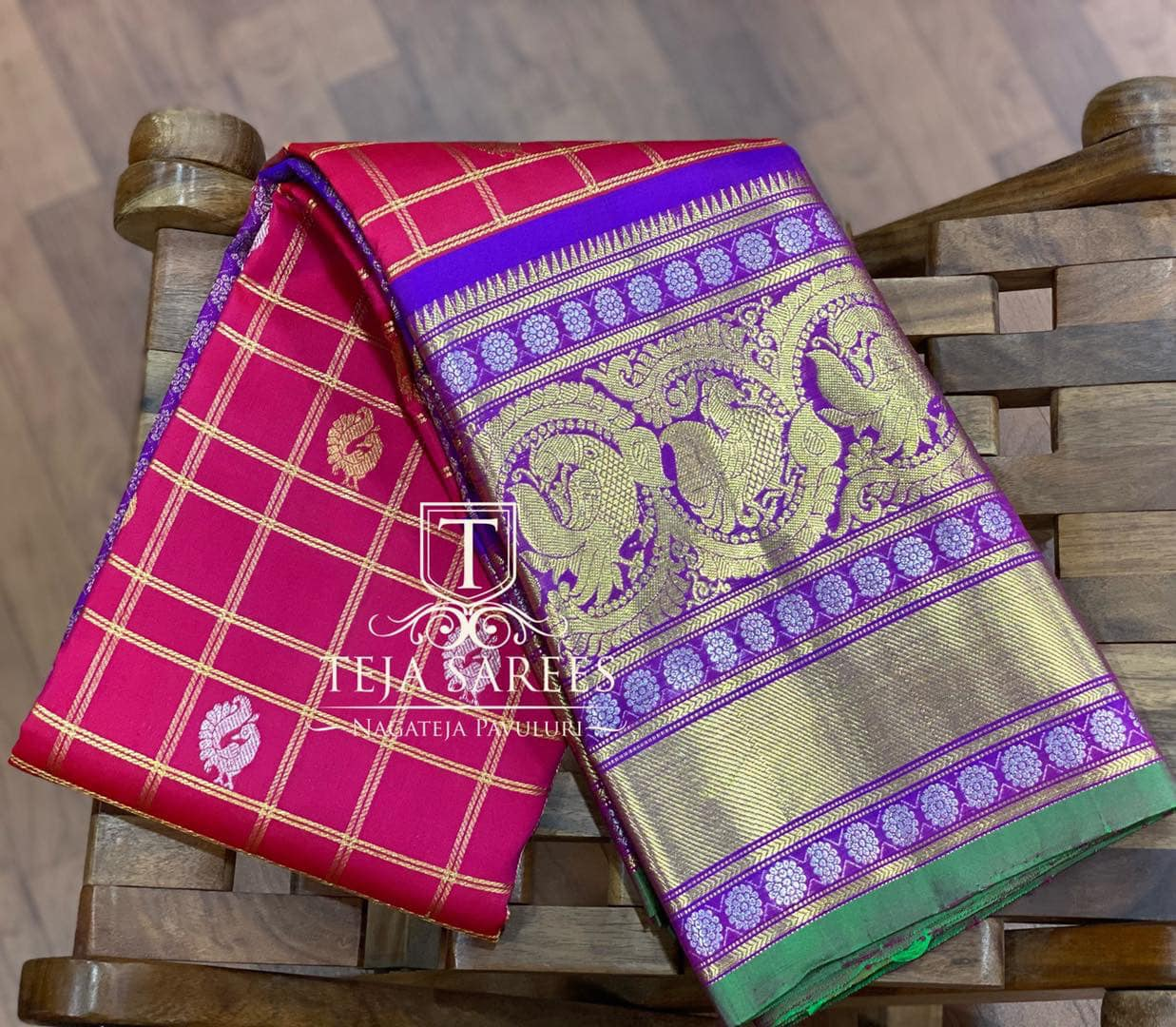 Gadwal-044 Back in stock New Gadwal Sarees  Handpicked Gadwal collection .. For orders/queries Call/what's app 8341382382 Mail  tejasarees@yahoo.com 2021-01-29