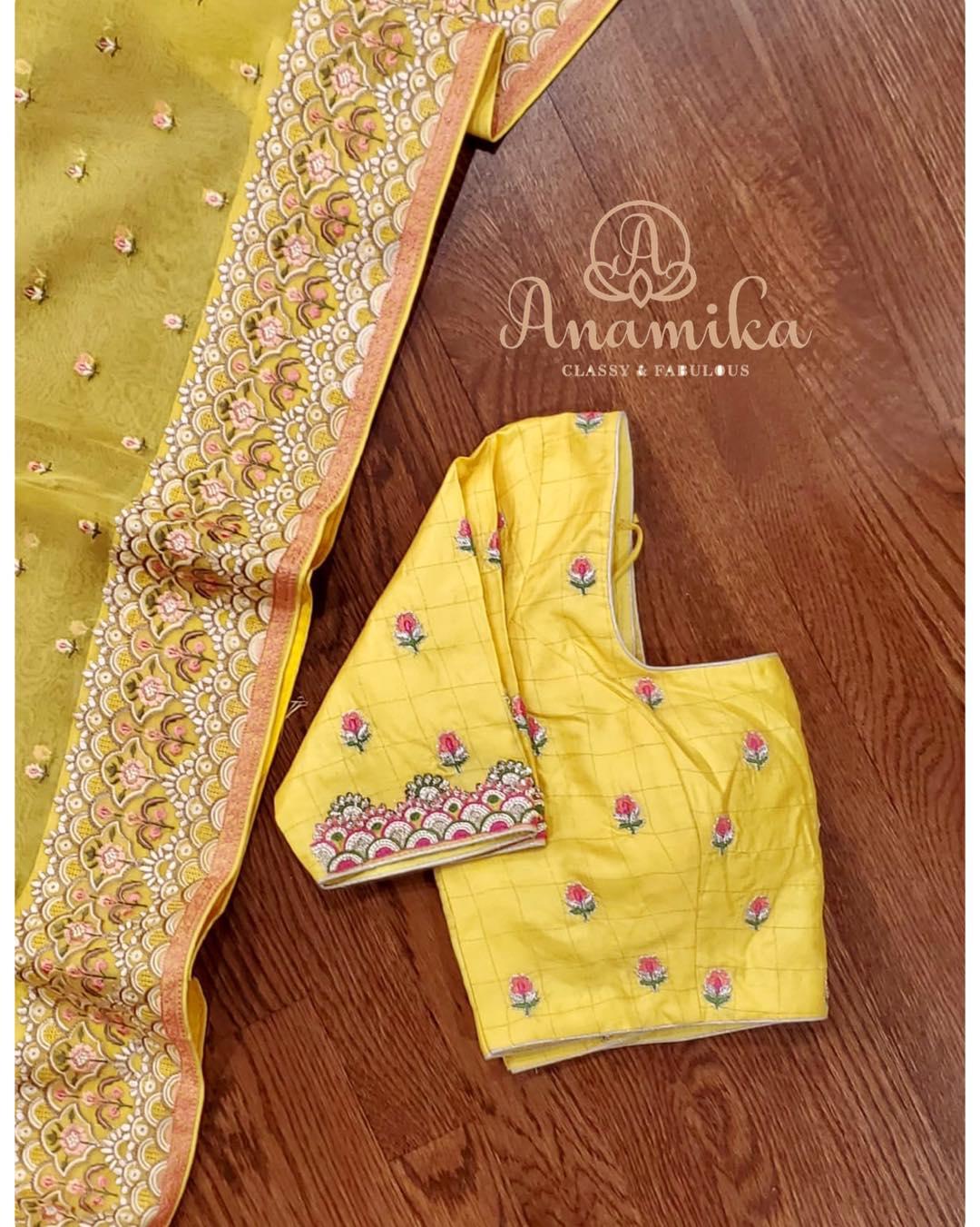 Somethings are truly striking - like this beautiful  Handloom Kora silk saree in yellow !  Attention to detail  gorgeous embroidered border and pallu  and the cute little butties all over the saree  the closely knit tassels on the pallu edge - *all come together to make this a masterpiece* The mono color blouse with intricately designed handwork is so apt to the design on the saree and makes this a perfect choice for your special day !  We r just in love  with this !  DM 360-545-3636 or 425-598-6797 for inquiries 2021-02-07