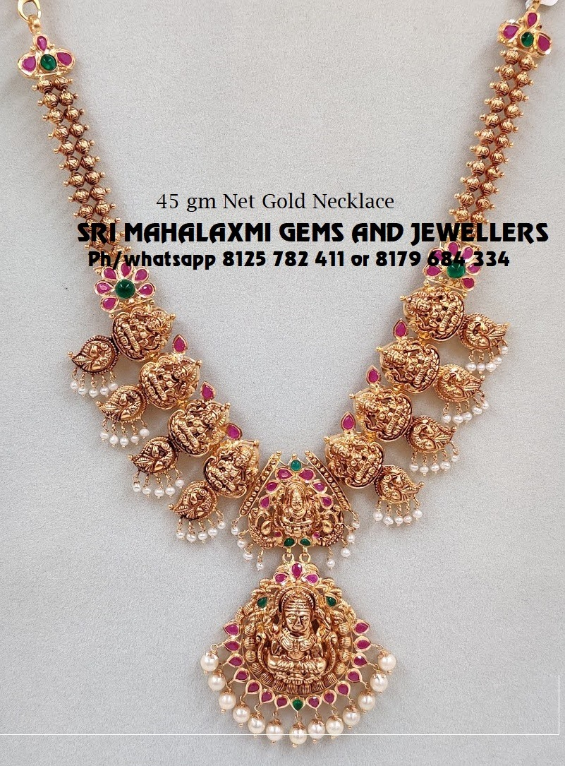 Best designs at most competitive prices. Beautiful nakshi work Lakshmi Haram.  Visit  for full range in ready selection or express delivery for made to order. 2021-02-08