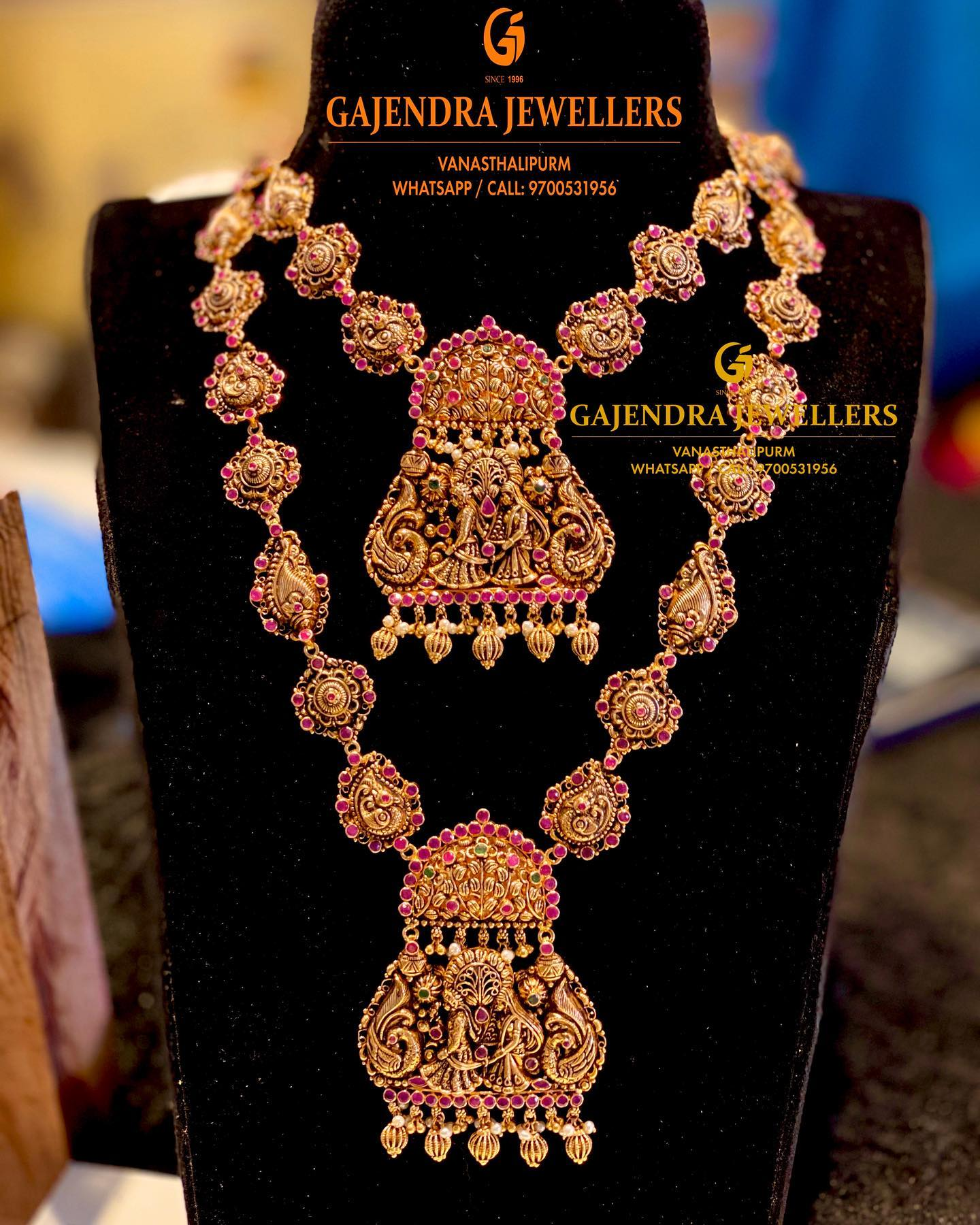 Stunning gold bridal set from  Gajendra jewellers. 2021-02-20