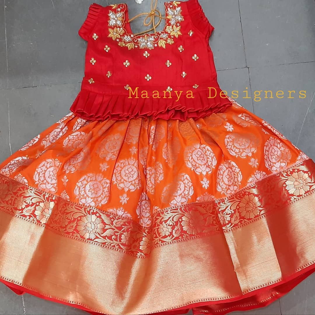 Customized kids pure benerasi silk lehenga Blouse