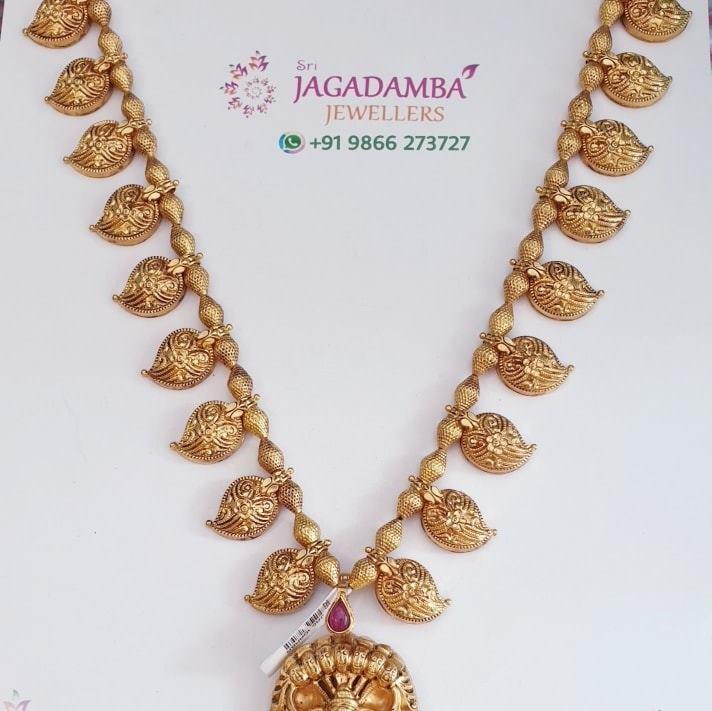 Exclusive light weight mango set with locket. Haram cum Locket cum waist chain Net 26.4gm To buy Whatsapp +919866273727 2021-02-23
