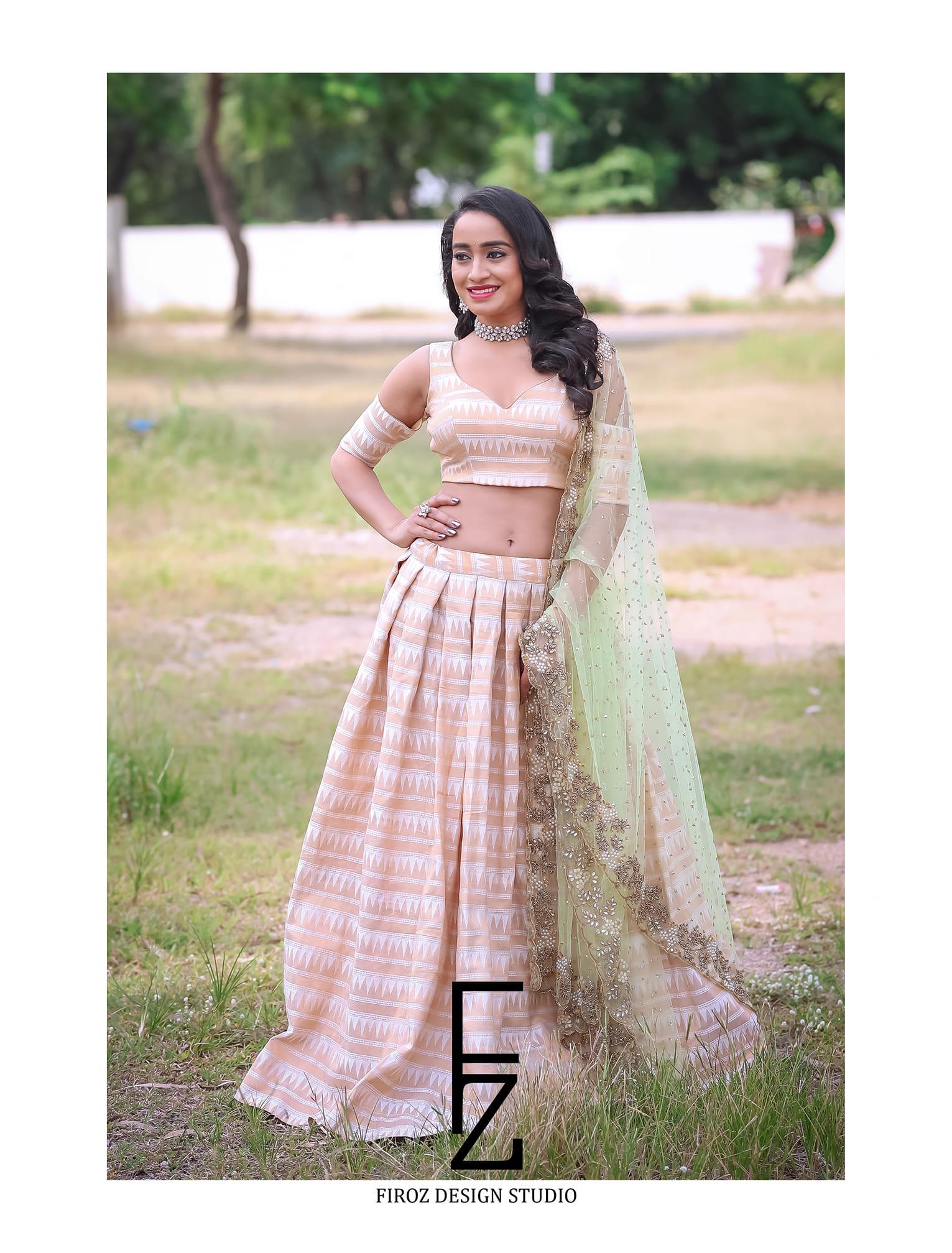 Beautiful and Charming Vindhya Vishaka in Firoz Design Studio Outfit 2021-02-23