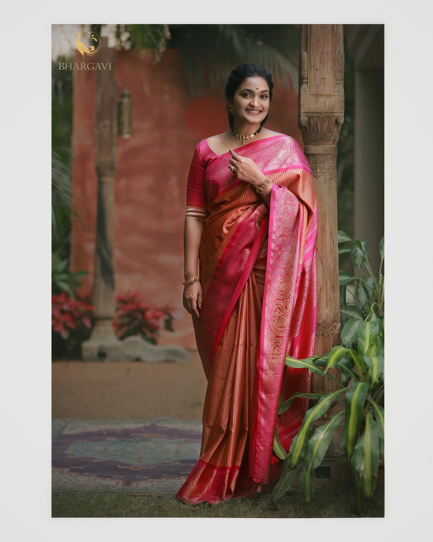Beautiful kanjivaram saree from Bhargavi Kunam studio.  2021-02-25