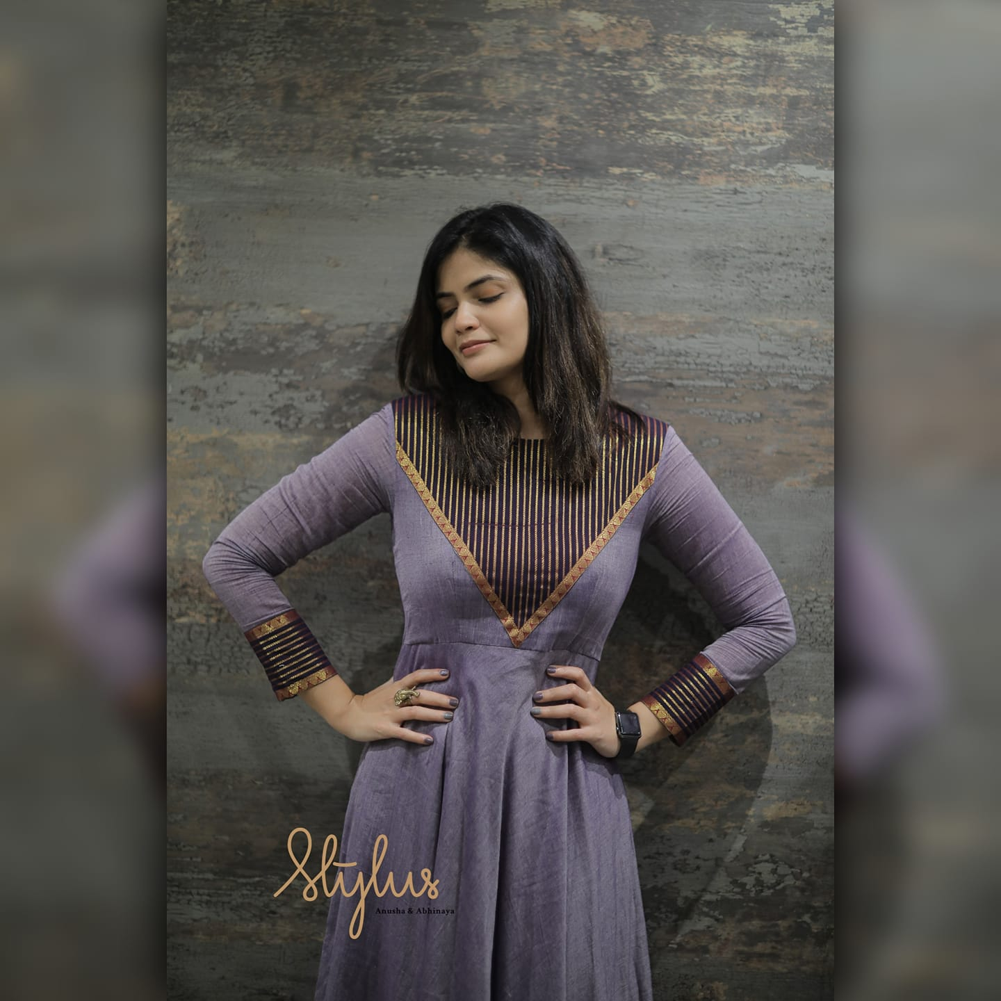 """""""Vintage and vibrant is a vibe! Violet and black frock. Do you vibe with violet? Then add this vibrance into your cart already."""" 2021-02-25"""