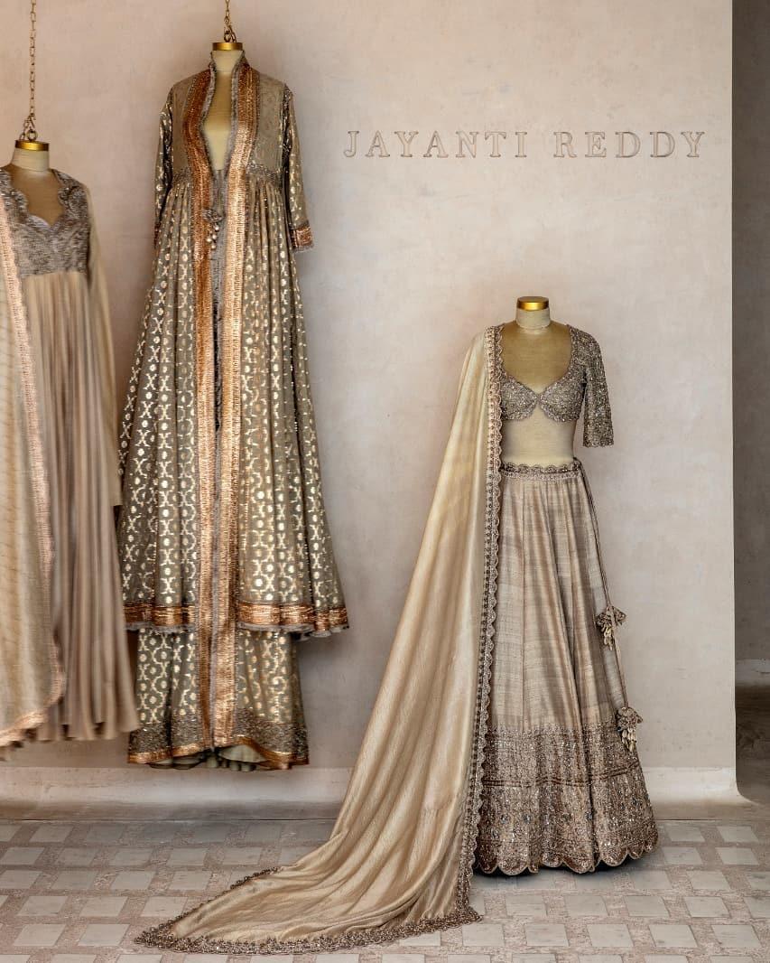 Traditional embroideries X Classic Twists! Traditional jayanti reddy signature lehenga set. 2021-02-26