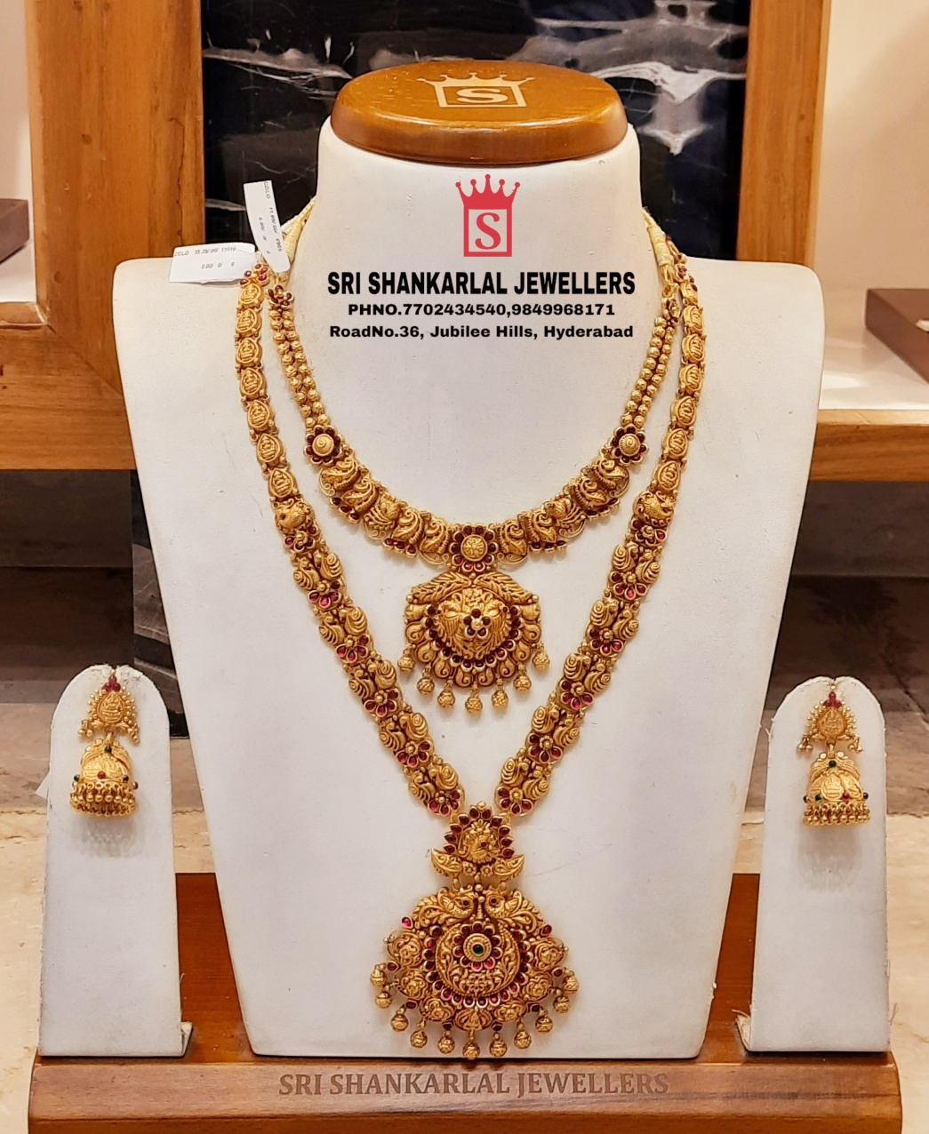 Latest Nakshi Haram and Jumka jewellery Light weight in Heavy Looking and vast collection! Please Visit  on video call 7702434540   9849968171 9966118893 . 2021-02-28