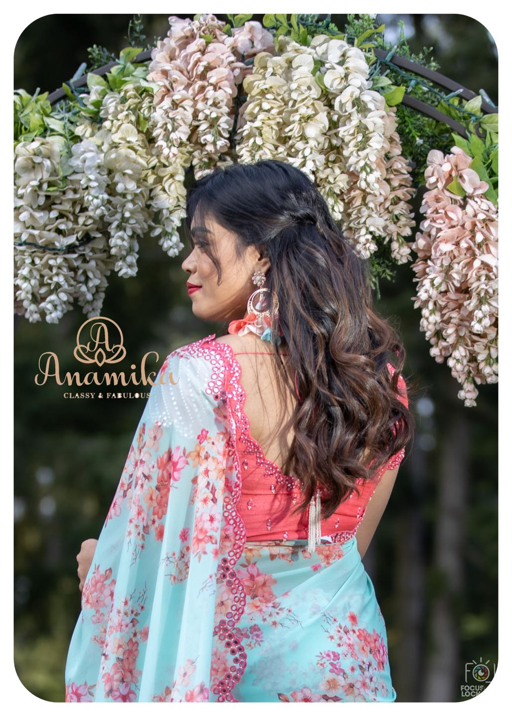 This saree is everything that you could have ever asked for  Mesmerizing prints .  soft and flowy georgettes . pastel Hues . A perfect pick for the upcoming spring season; just rock and roll in this light weight floral saree with beautiful mirror work border !!  DM 360-545-3636 or 425-598-6797 for inquiries. 2021-03-01